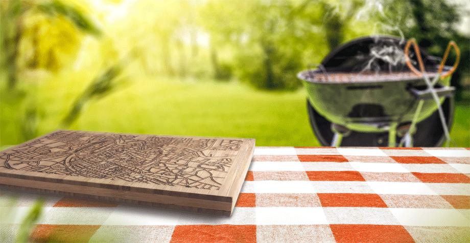 Nieuw: snijplanken met gegraveerde plattegrond